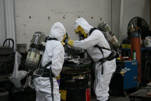 Orange County Testing Haz Mat Drums